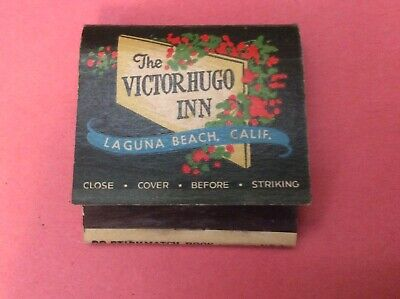 Vintage 1950's The Victor Hugo Inn Laguna Beach California Matchbook Rare!