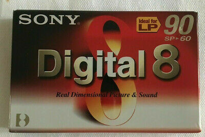 New  Sony Digital 8 Video Camcorder Tape / Cassette. Also Superb With Hi 8