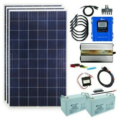 855 Watt Installation Autonome 1000 W Transformateur de Tension Solaire 230 V PV