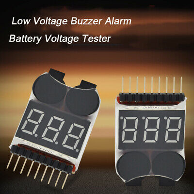 1-8S LED Low Voltage Buzzer Alarm Lipo Voltage Indicator Checker Tester TWUPR OD