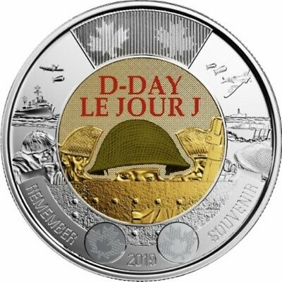 2019 Canada Paint D-Day Toonie Graded as Brilliant Uncirculated