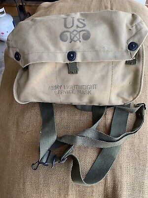 WWII Army M6 Lightweight Gas Mask With Bag Dated 1-42 Original by Firestone