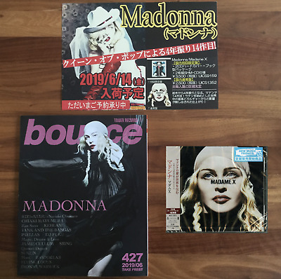 "JAPAN SHOP BANNER + 3x JAPAN BONUS TRACKS +""BOUNCE"" MAG! MADONNA ""MADAME X"" 2019"