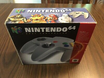 Official Nintendo 64 N64 Controller Tight Joystick! Authentic With Box! OEM Gray