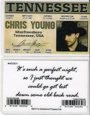 CHRIS YOUNG MURFREESBORO Tennessee TN Drivers License fake id i d  card