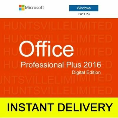 Microsoft Office 2016 Professional Plus Genuine Product - INSTANT DELIVERY