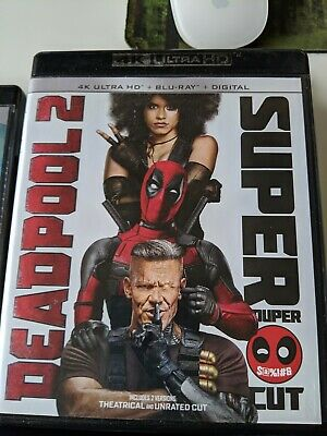 Read description! Deadpool 2 Super Cut. Only Blu-ray discs included
