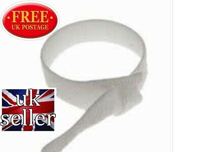 VELCRO CABLE TIES  RE-USABLE ONE WRAP 20mm x 200mm WHITE (CABLE  MANAGEMENT )