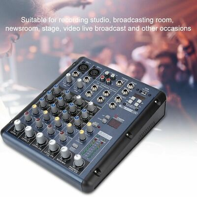 Console audio mixer audio professionale 6 canali mini mixer da 6 canali