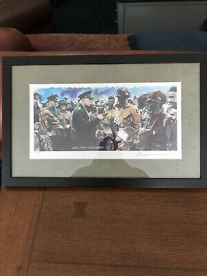 Charles M. Schulz Signed Numbered D Day Snoopy Painting