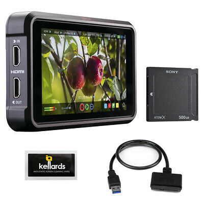 "Atomos Ninja V 5"" Recording Monitor w/ Sony 500GB SSD & Cleaning Wipes"