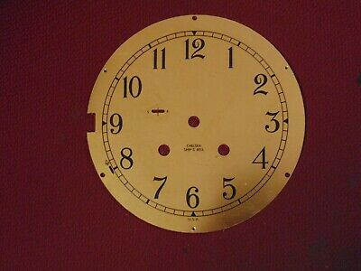 """Chelsea Ships Bell Solid Brass Clock Dial Face Plate 6"""" Part"""
