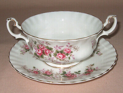 Royal Albert Lavender Rose Soup Coupe / Bowl & Saucer, English Made, 1St Quality
