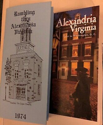 Lot of 2 Alexandria Virginia Travel Brochures