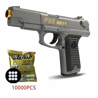 Manual Paintball Toy P85 MK11 Water Crystal Bullet Gun + 10000 Crystal Bullet WT