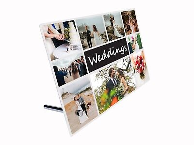 Personalized Custom Made Tabletop Metal Photo Print Aluminium Panel with Stand