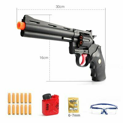 Water Gel Ball Toys Pistol Blaster Gun Soft Crystal Bullets Revolver For Kids WT