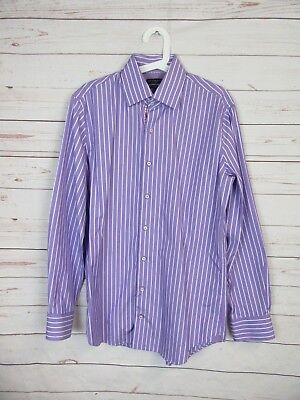 Shirt Violet Striped Tommy Hilfiger for Men in Very Good Condition, Size 40