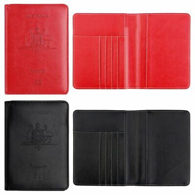 Luxury Leather Travel Passport Holder Wallet RFID Blocking Case Cover WT