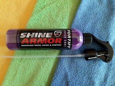 Shine Armor Fortify Quick Coat (Made in USA) + 2 Jumbo sized Micro Fibre Cloths