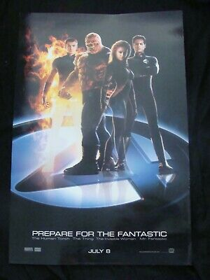 FANTASTIC FOUR movie poster CHRIS EVANS JESSICA ALBA Original ADVANCE DS One she