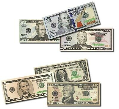 Creative Bills Grand Sale Six Packs of Best Real Looking Play Money, Jumbo Size,