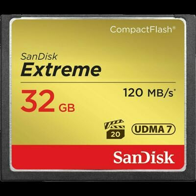 SanDisk 32GB Extreme CompactFlash CF Card 120MB/S SDCFXS-032G VPG-20 For DSLR R