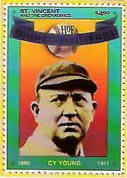 1992 St. Vincent HOF Heroes Stamps #12 Cy Young