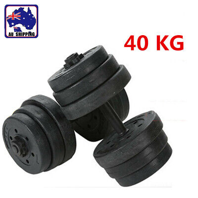 40KG Adjustable Dumbbell Set Home Gym Fitness Exercise OYST71140