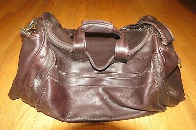 "Piel Leather 23"" Duffle Bag 7700 - Chocolate Brown"