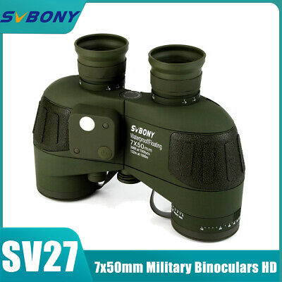 SVBONY Military 7X50mm Marine Waterproof Binoculars +Rangefinder and Compass UK