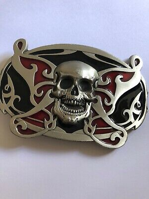 Belt Buckle Skull 2006 American Products 4833PC Fine Pewter
