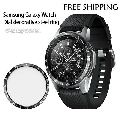 Metal Bezel Ring Adhesive Cover Anti-Scratch For Samsung Galaxy Watch 42/46 MM