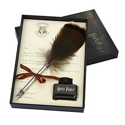 YOCOM Harry Potter Feather Quill Pen with Ink Set Feather Dip Pen Antique