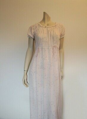 Vintage Pink Floral Nightgown - 1940s - Bust 91 cm