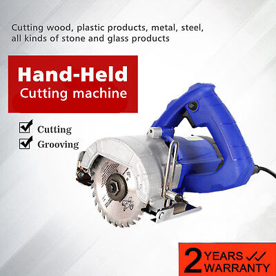 Hand Held Ceramic Tile Saw Wood metal Stone Cutter Cutting Grooving Machine 110V