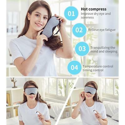USB Hot Pads Heat Steam Cotton Eye Mask Temperature Control Dry Tired Compress