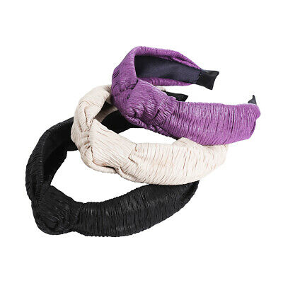 Ladies Tie Plain Headband Hairband Knot Tie Alice Soft Hair Bands Accessories