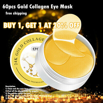 Efero Collagen 24k Gold Under Eye Gel Mask - Anti Ageing Wrinkle Bag Remover