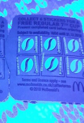 ♡Mcdonalds Coffee Stickers 600 Stickers♡ This Only £15.99♡♡♡♡