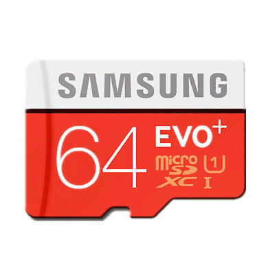 HOT Samsung Memory 64GB EVO+ TF / Micro SD Card Class 10 with Adapter UK StockBE