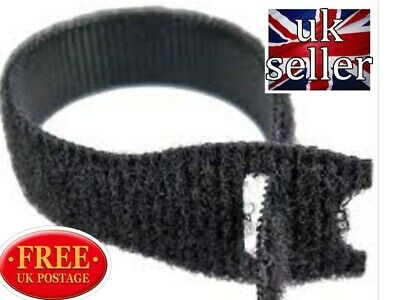 VELCRO CABLE TIES  RE-USABLE ONE WRAP 20mm x 200mm BLACK (CABLE  MANAGEMENT )