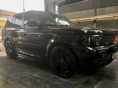 Black Range Rover sport 2.6 TDV6 HSE with full auto biography body kit upgrades
