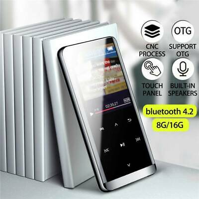 16GB bluetooth MP3/MP4 Music Player Lossless Sound Portable FM Radio Voice AU