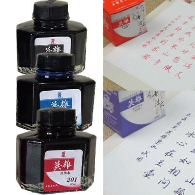 Fountain Pen Ink Bottle 60ml 3 Colors Select