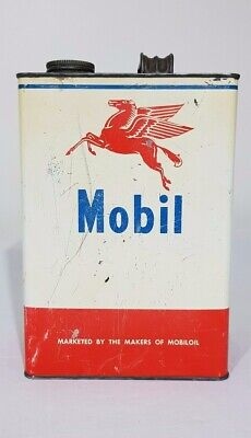 Mobil Vacuum Oil 1 Imperial Gallon Oil Tin