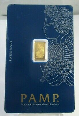 PAMP 999.9 1 g GOLD SUISSE GOLD BAR Certificate C224604