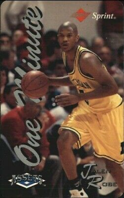 1994-95 Assets Phone Cards One Minute/$2  #20 Jalen Rose