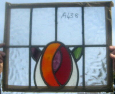 A438 Ca 1910    41 by 34 cms.  nice stained glass window. no breaks.