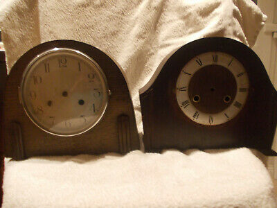 two mantel clock cases one with bezel one with out